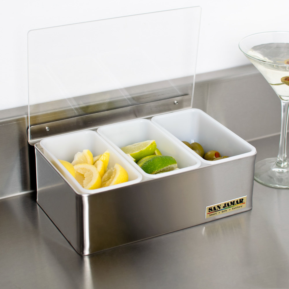 San Jamar B4093L Garnish Tray - 3 Pint (1.5 Qt.) Capacity