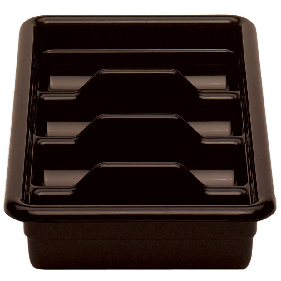 Dark Brown Cambro 1120CBR131 Plastic Regal Cutlery Box 11 inch x 20 inch