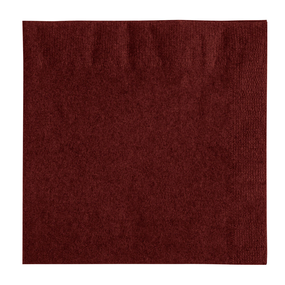 Choice Burgundy Beverage / Cocktail Napkin - 1000 / Case