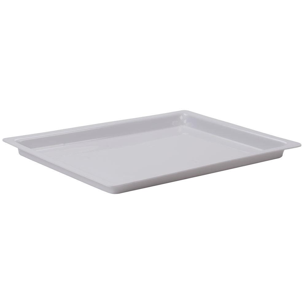 "Cal Mil 325 12 15 12"" x 20"" Shallow White Bakery Tray"