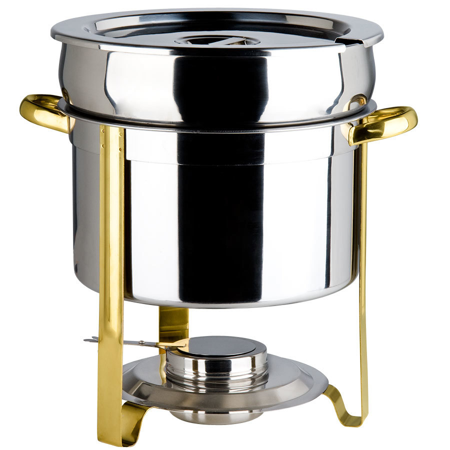 Deluxe 11 Qt. Gold Accent Marmite Chafer