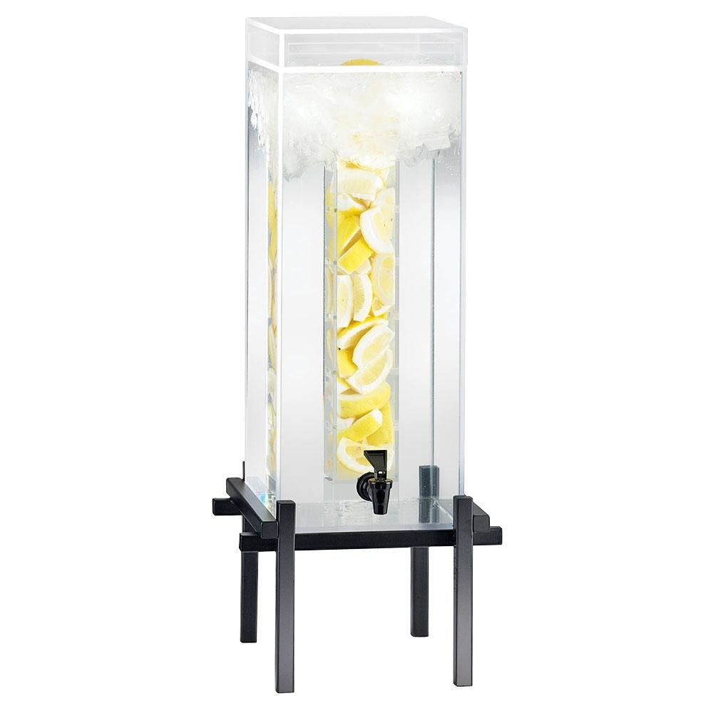 Cal Mil 1132-5INF-13 Black One By One 5 Gallon Beverage Dispenser with Infusion Core - 11 3/4 inch x 12 inch x 29 inch