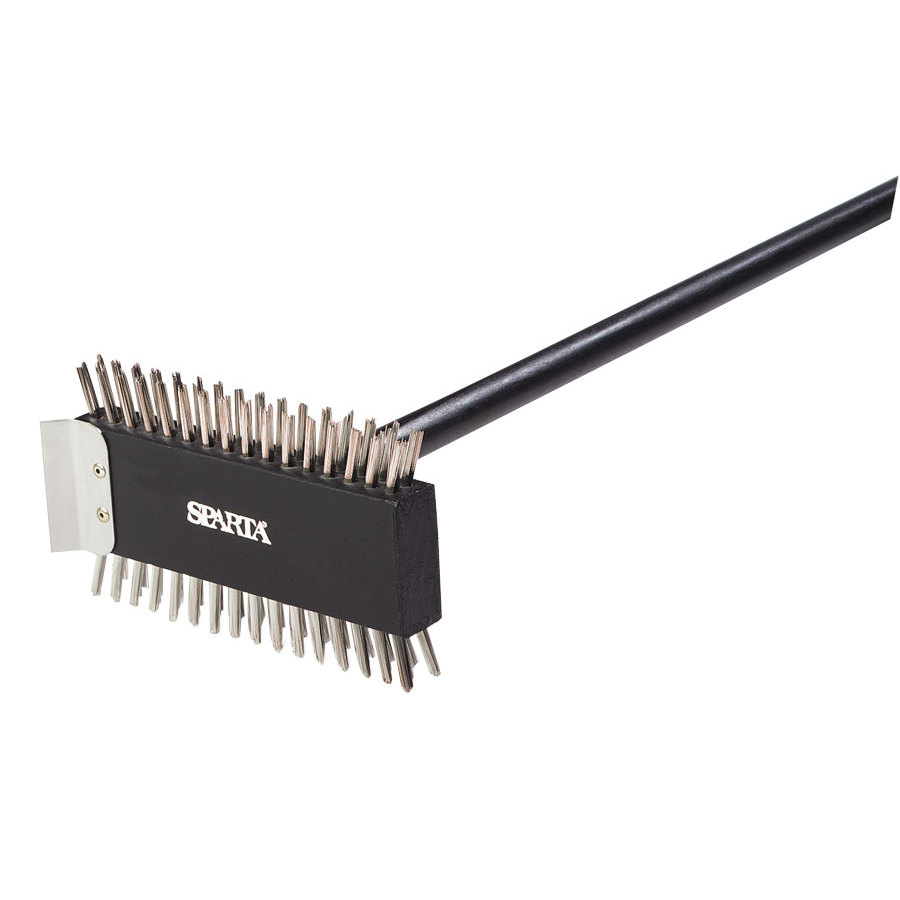 Carlisle 40290 Broiler Cleaning Brush 30 inch with Scraper