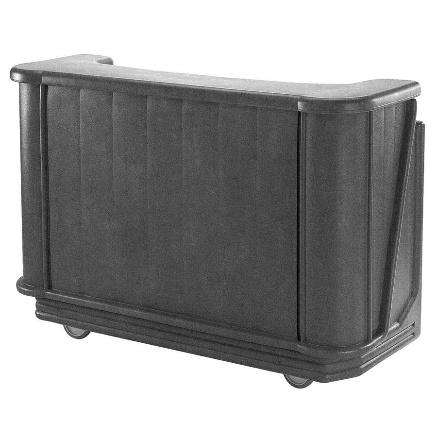 "Cambro BAR650DX191 Granite Gray Cambar 67"" Portable Bar with 7-Bottle Speed Rail, Cold Plate, and Pre-Mix System"