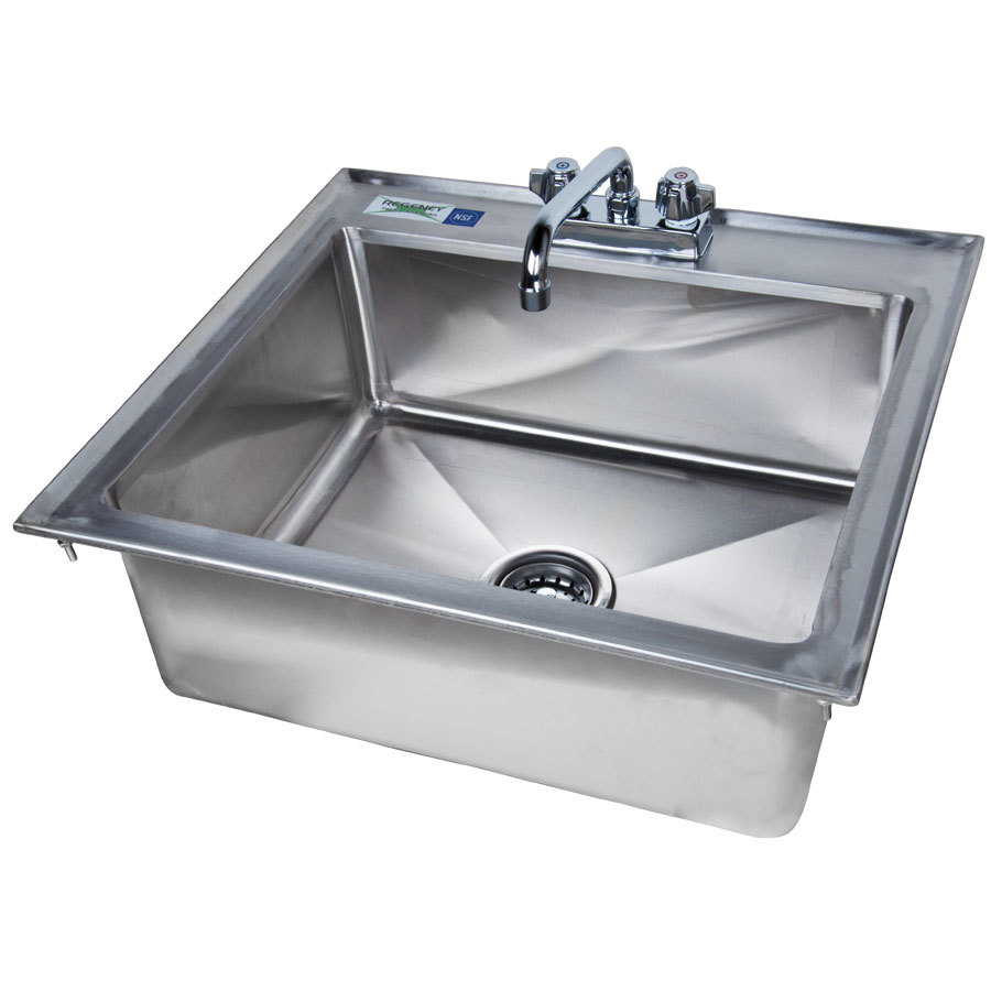 16 Gauge Stainless Steel Sink : Regency Tables & Sinks Regency 16 Gauge Drop In Stainless Steel Sink ...