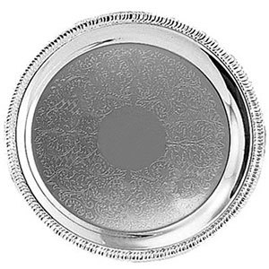 Tabletop classics tr 11235 18 round stainless steel tray for Html tr border