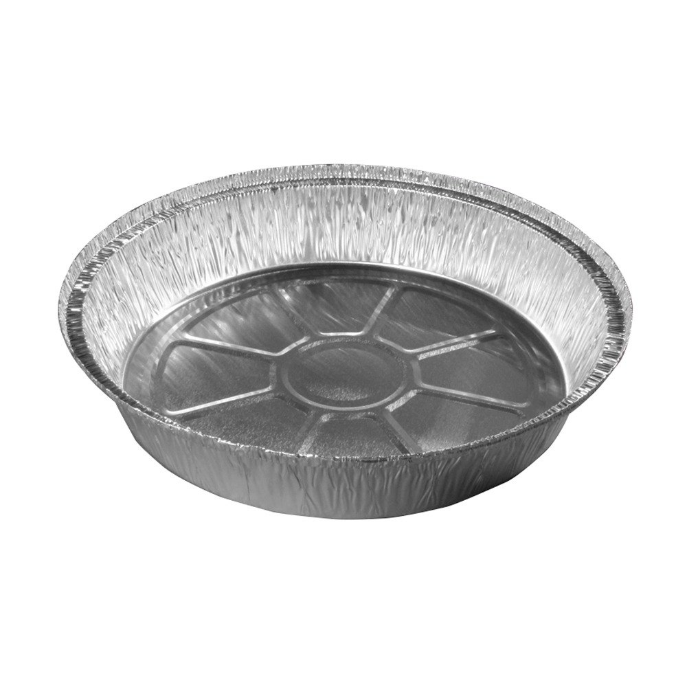 9 inch Round Foil Take Out Pan Heavy Weight - 500 / Case
