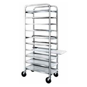 "Winholt AL-1012 End Load Aluminum Platter Cart - Twelve 10"" Trays"