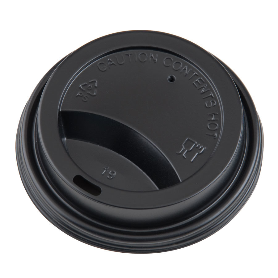 Choice 10, 12, 16, and 20 oz. Hot Paper Cup Travel Lid Black 1000 / Case