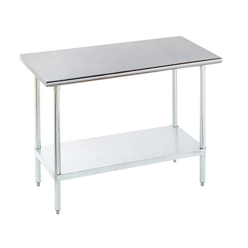 "16 Gauge Advance Tabco SLAG-306 30"" x 72"" Stainless Steel Work Table with Stainless Steel Undershelf"