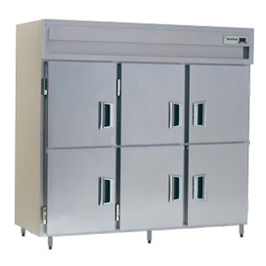 Delfield SMH3-SH 78.89 Cu. Ft. Solid Half Door Three Section Reach In Heated Holding Cabinet - Specification Line