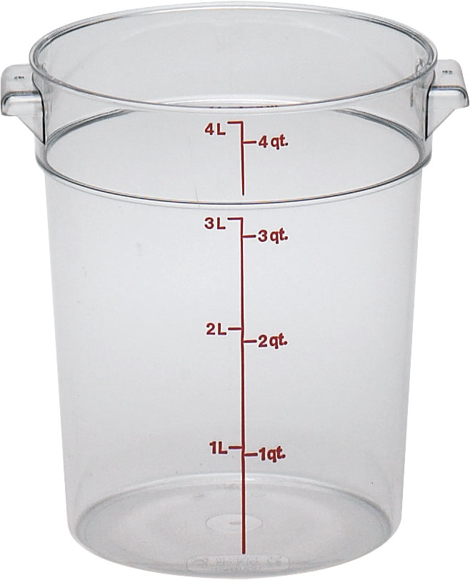 Cambro RFSCW4 Camwear 4 Qt. Clear Round Food Storage Container