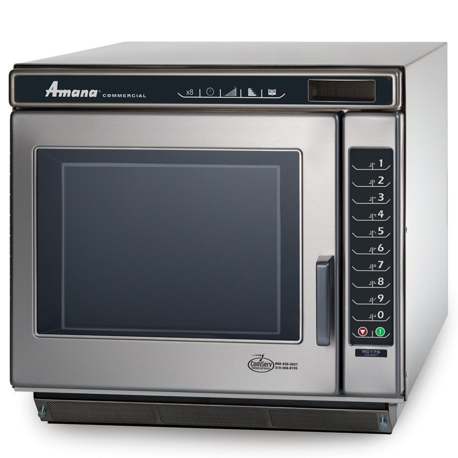 Amana Commercial Microwaves Amana RC17S2 1700 Watt Heavy Duty Commercial Microwave Oven - All Stainless with Push Button Controls at Sears.com