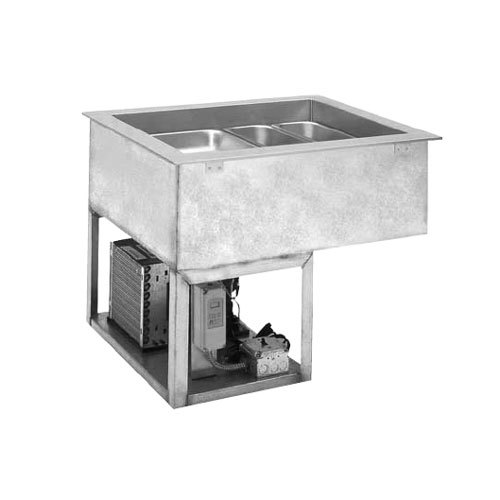 "Wells RCP-7543 74"" Five Pan Drop In Refrigerated Cold Food Well with 4/3 Capacity with Recessed Pan Compartments"