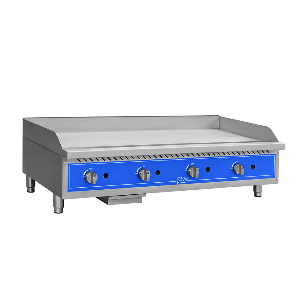 "Globe GG48G 48"" Countertop Gas Griddle - 120,000 BTU"