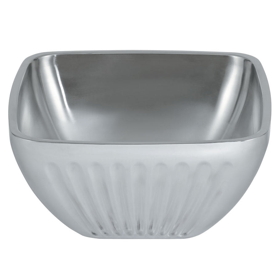 Vollrath 47684 Fluted Double Wall Square 8.2 Qt. Serving Bowl