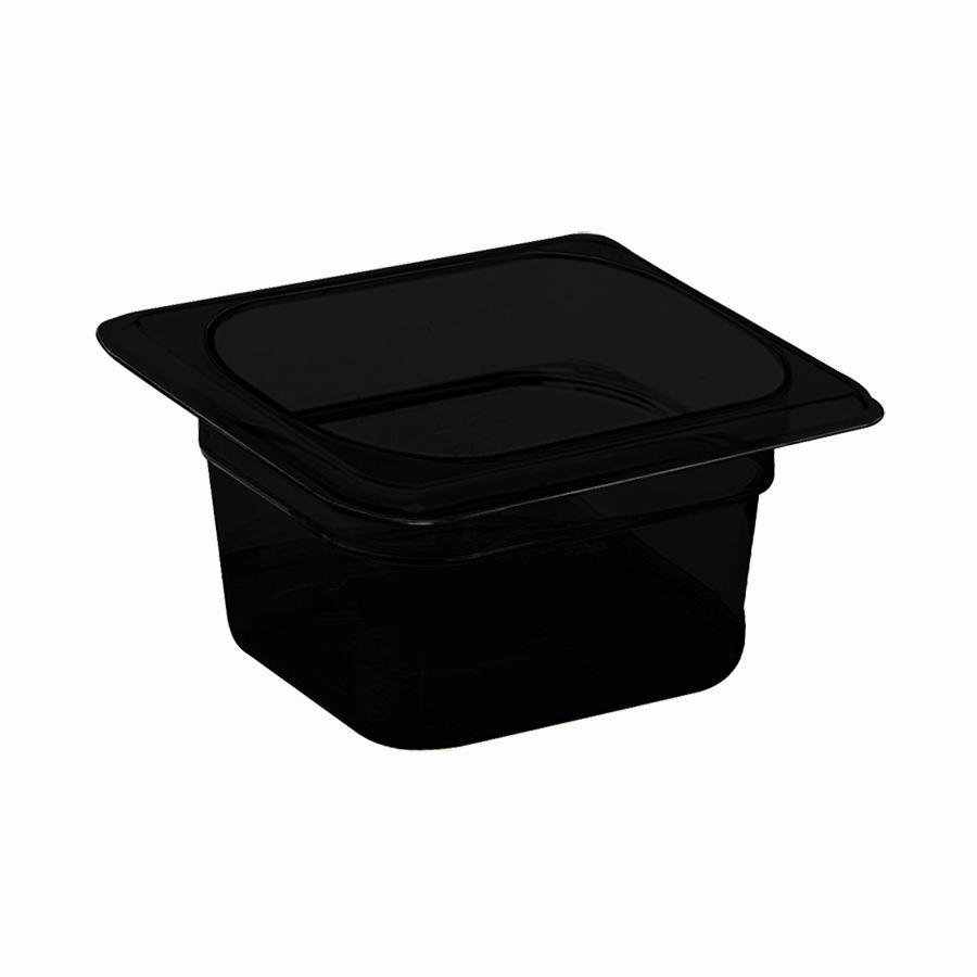 Cambro 62HP110 Black H-Pans 2 1/2 inch Deep 1/6 Size High Heat Food Pan