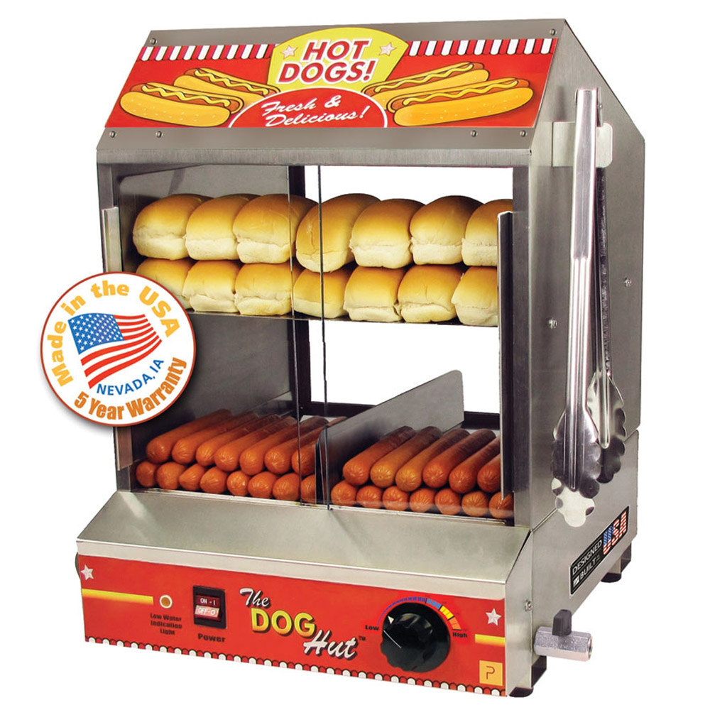Paragon 8020 Dog Hut Hot Dog Steamer And Merchandiser