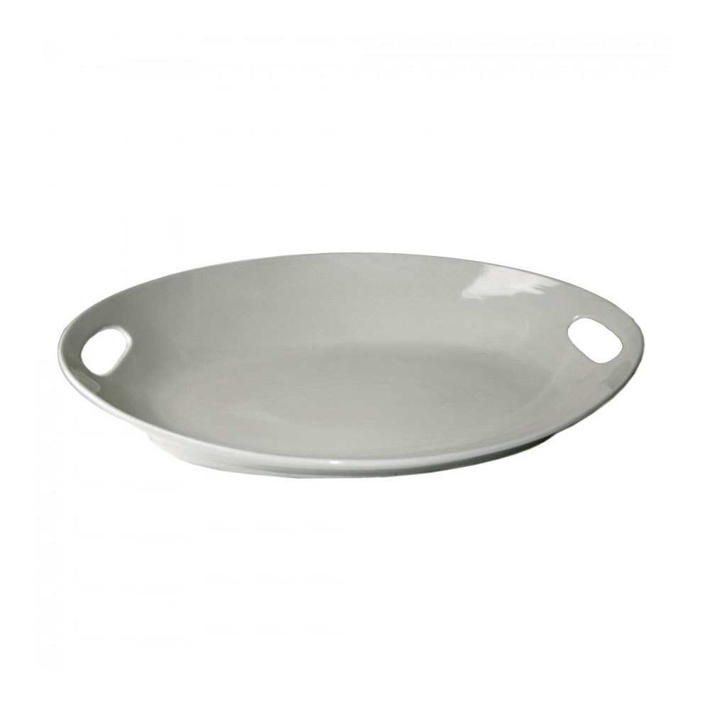 "10 Strawberry Street OSLO-22OVLHNDLPLTR 22"" x 16 3/4"" Oslo Oval Handle Platter 3 / Case"
