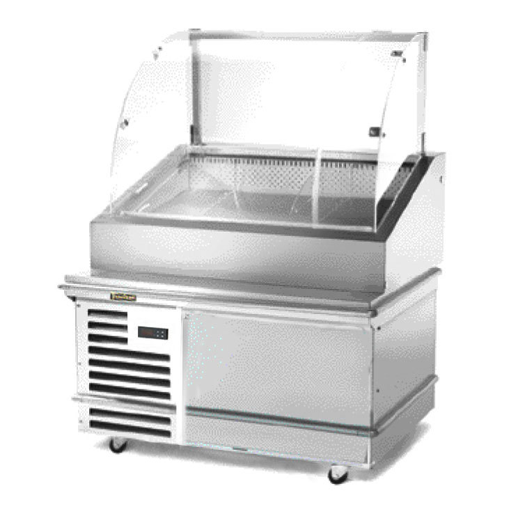"Traulsen TD048HT-1 Stainless Steel 48"" Deli Case with Casters - Specification Line"