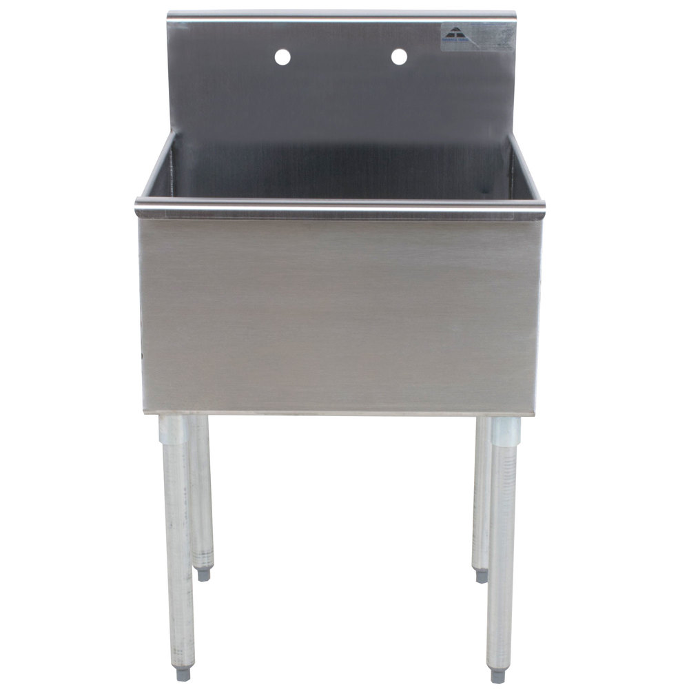 Advance Tabco 4-1-24 One Compartment Stainless Steel Commercial Sink - 24""