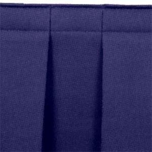 "National Public Seating SB16-36 Navy Box Stage Skirt for 16"" Stage - 36"" Long"