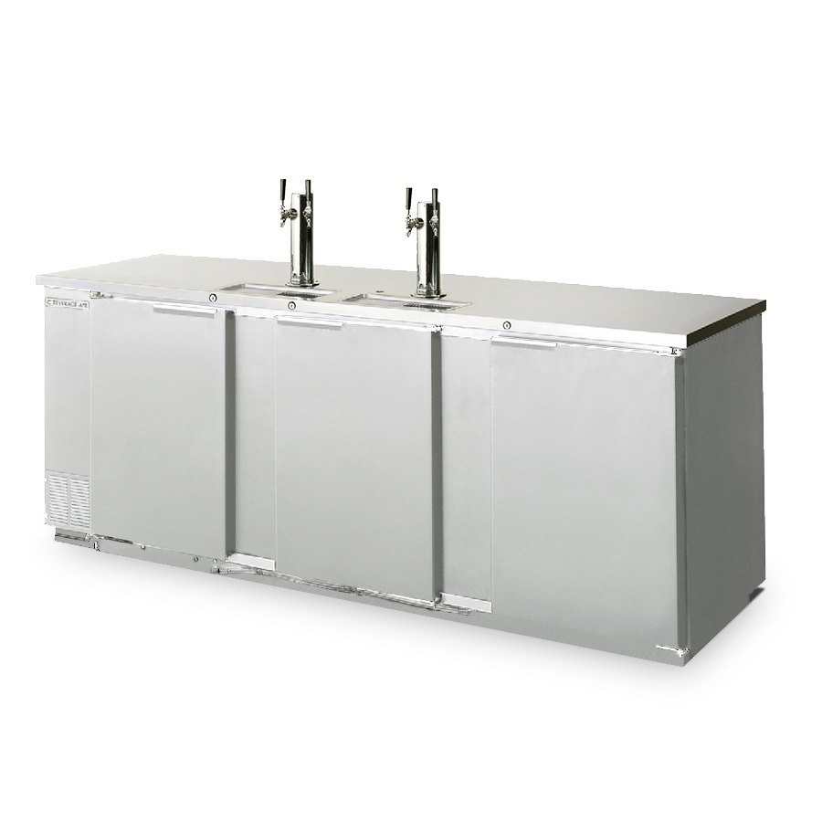 "Beverage Air (Bev Air) DD78-1-S Stainless Steel Finish Front Beer Dispenser 79"" - 4 Keg Kegerator at Sears.com"