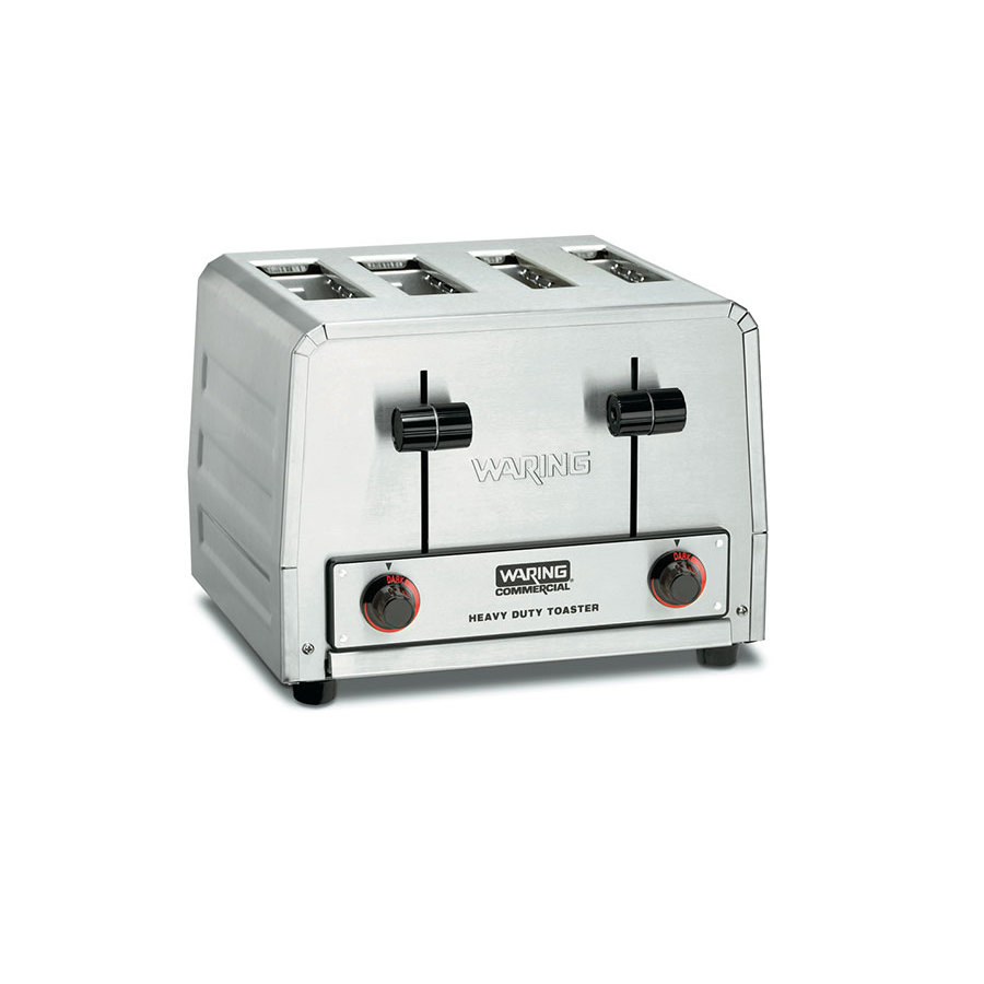 Waring WCT810 Heavy Duty Combination Toaster and Bagel Toaster 4 Slice - 120V, 2025W