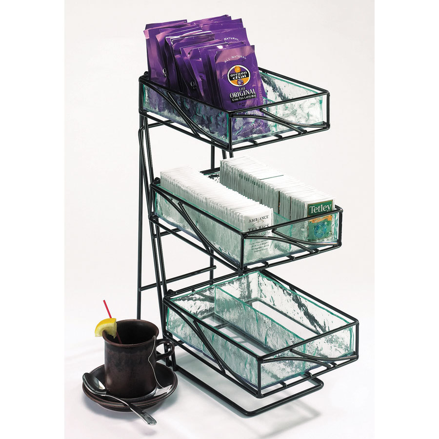 Cal Mil 1235-Tea Wire and Faux Glass Tea Center Coffee Condiment Organizer at Sears.com