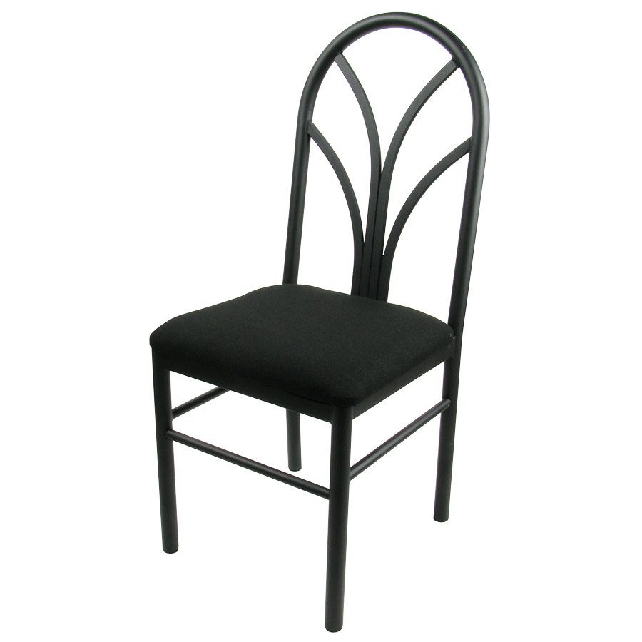 black 4 spoke restaurant dining room chair with 1 3 4 39 39 padded seat