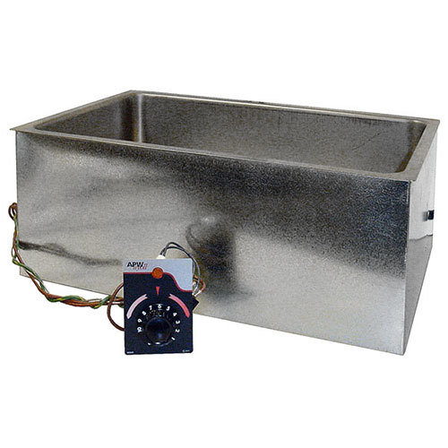 "APW Wyott BM-80D-UL Listed Bottom Mount 12"" x 20"" Insulated High Performance Hot Food Well with Drain - 120V"