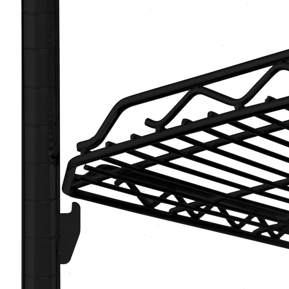 "Metro HDM1436Q-DBM qwikSLOT Drop Mat Black Matte Wire Shelf - 14"" x 36"""