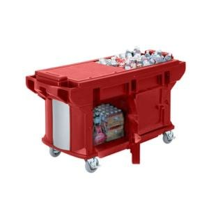Cambro VBRUTHD6158 Hot Red 6? Versa Ultra Work Table with Storage and Heavy Duty Casters at Sears.com