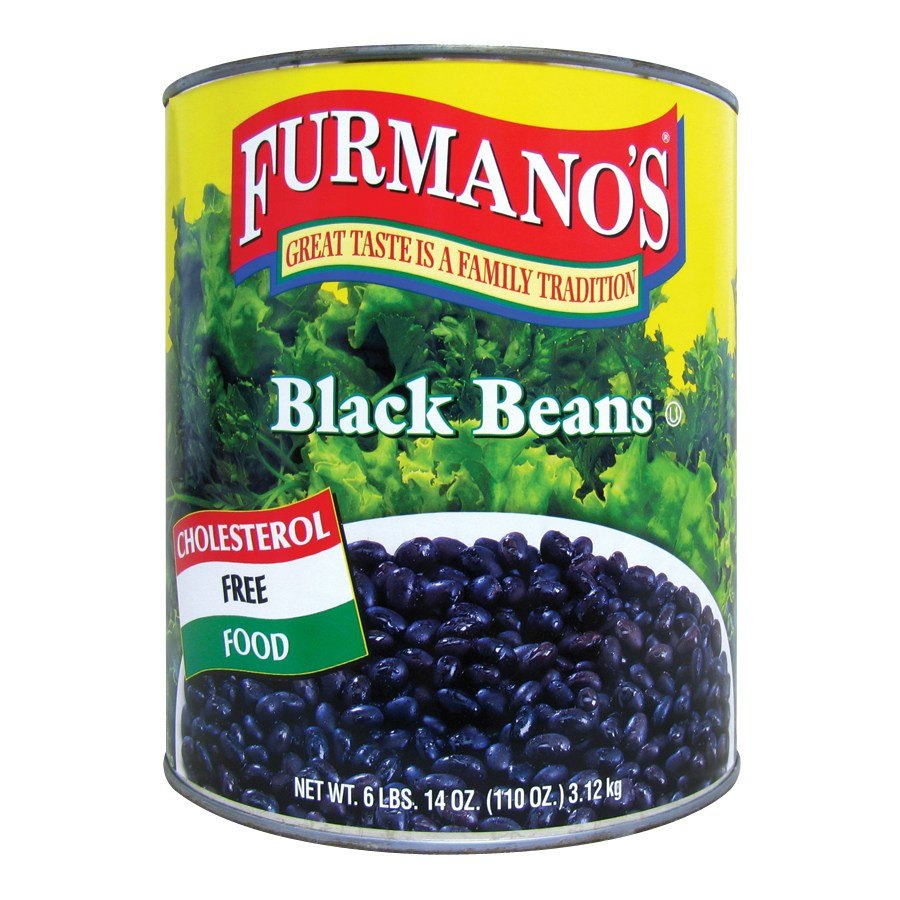 Furmano's Fancy Black Beans in Brine - #10 Can