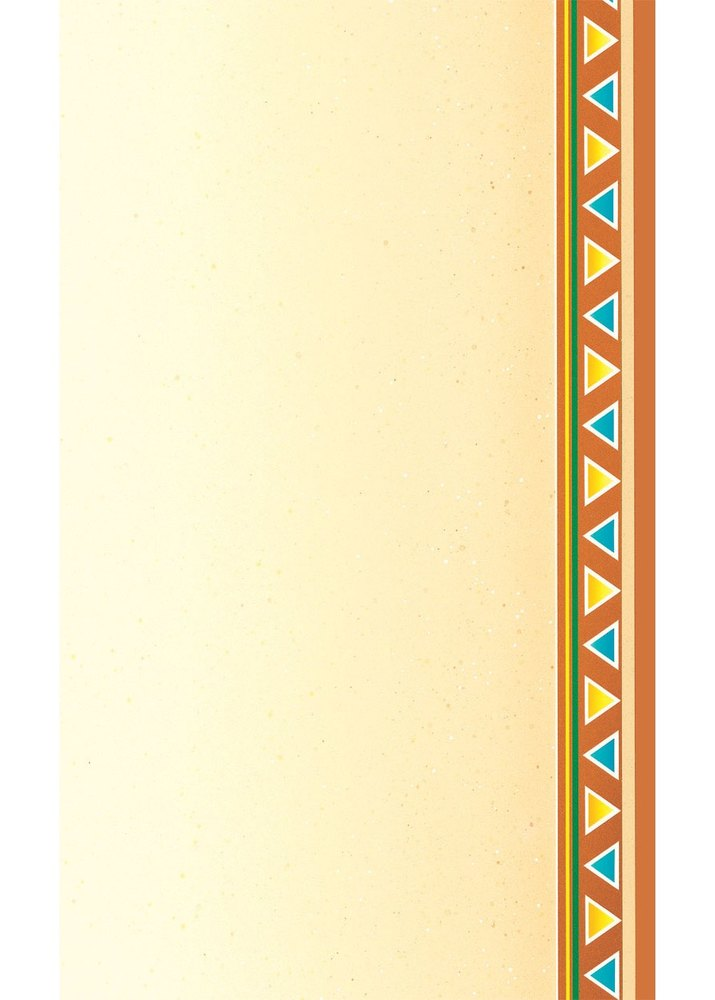 "8 1/2"" x 14"" Menu Paper - Southwest Themed Fiesta Border Design Right Insert - 100/Pack"