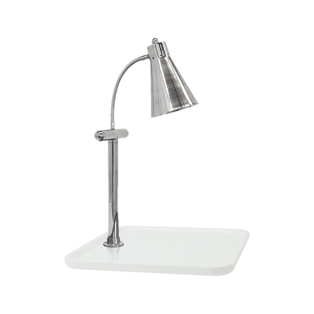 "Buffet Enhancements 010HFD-WG24SQS 24"" Carving Station with Square White Granite Base and Flex Lamp"