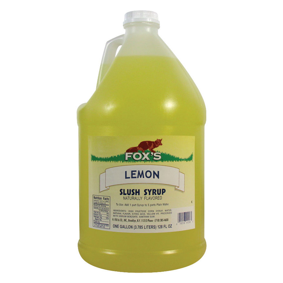 Fox's Lemon Slush Syrup 4 - 1 Gall