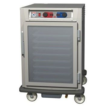 Metro C585-SFC-LPFS C5 8 Series Reach-In Pass-Thru Heated Holding Cabinet - Solid / Clear Doors