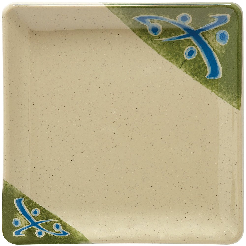 "GET 252-18-TD Japanese Traditional 7"" Square Plate - 12/Case"