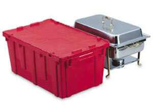 Vollrath 52645 Tote 'N Store Red Chafer Box