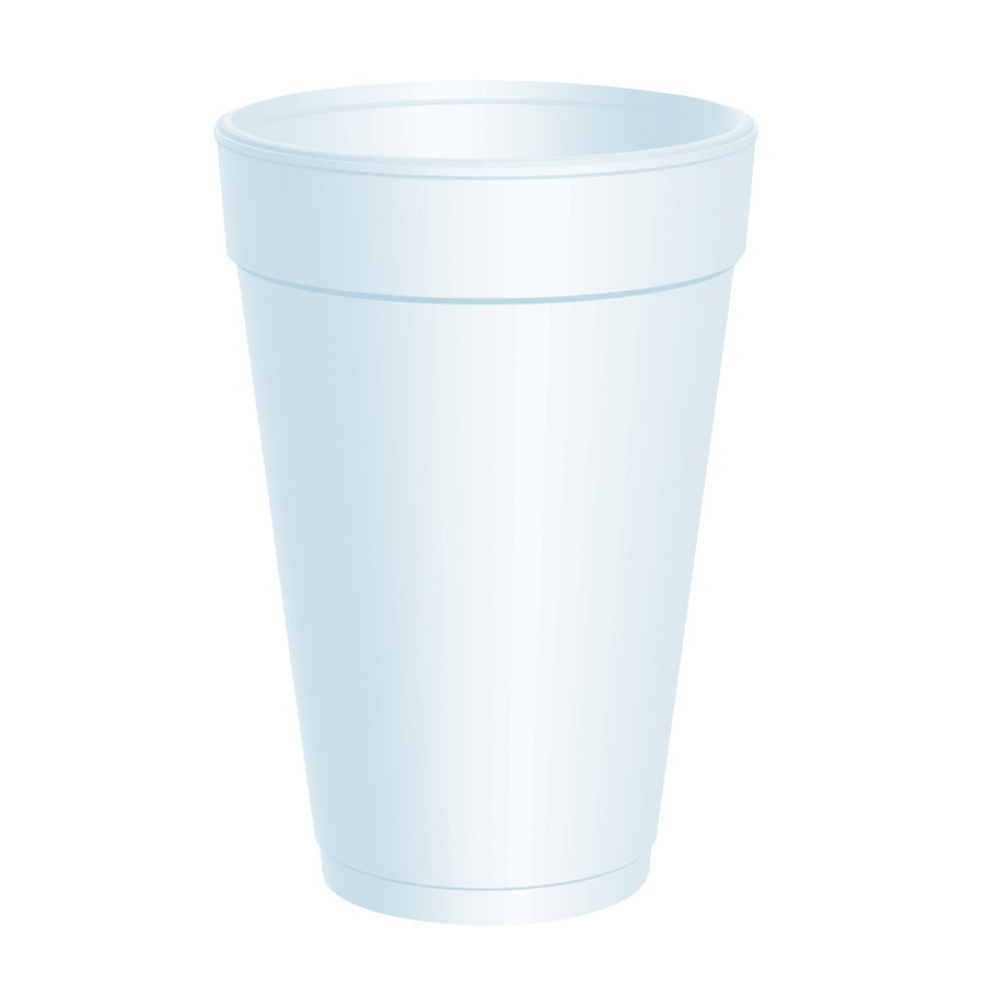 Dart 16J16 16 oz. White Customizable Foam Cup 1000/Case