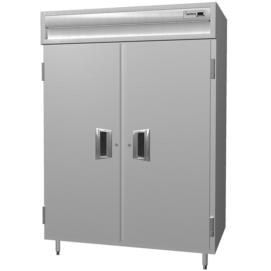 Delfield SSR2S-S Stainless Steel 38 Cu. Ft. Two Section Solid Door Shallow Reach In Refrigerator - Specification Line