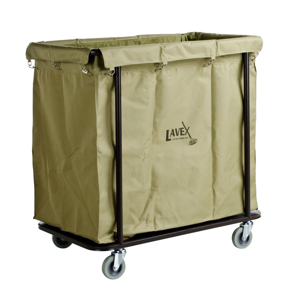 Lavex Lodging 14 Bushel Metal Frame Laundry / Trash Cart with Canvas Bag