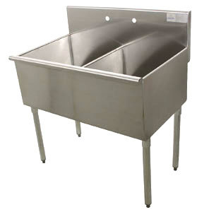 Advance Tabco 4 42 60 Two Compartment Stainless Steel