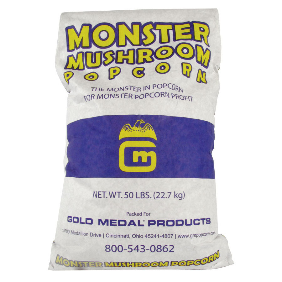 Gold Medal 2031 Monster Mushroom Large Popcorn Kernels 50 lb. Bulk Bag - Mixed Blend