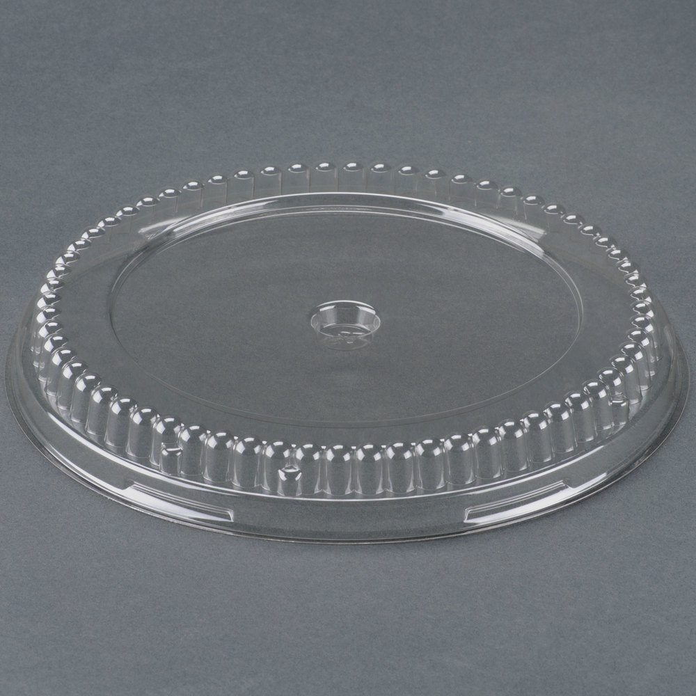 "Genpak 95A08 Clear Lid for 8"" Round Pans - 200/Case"
