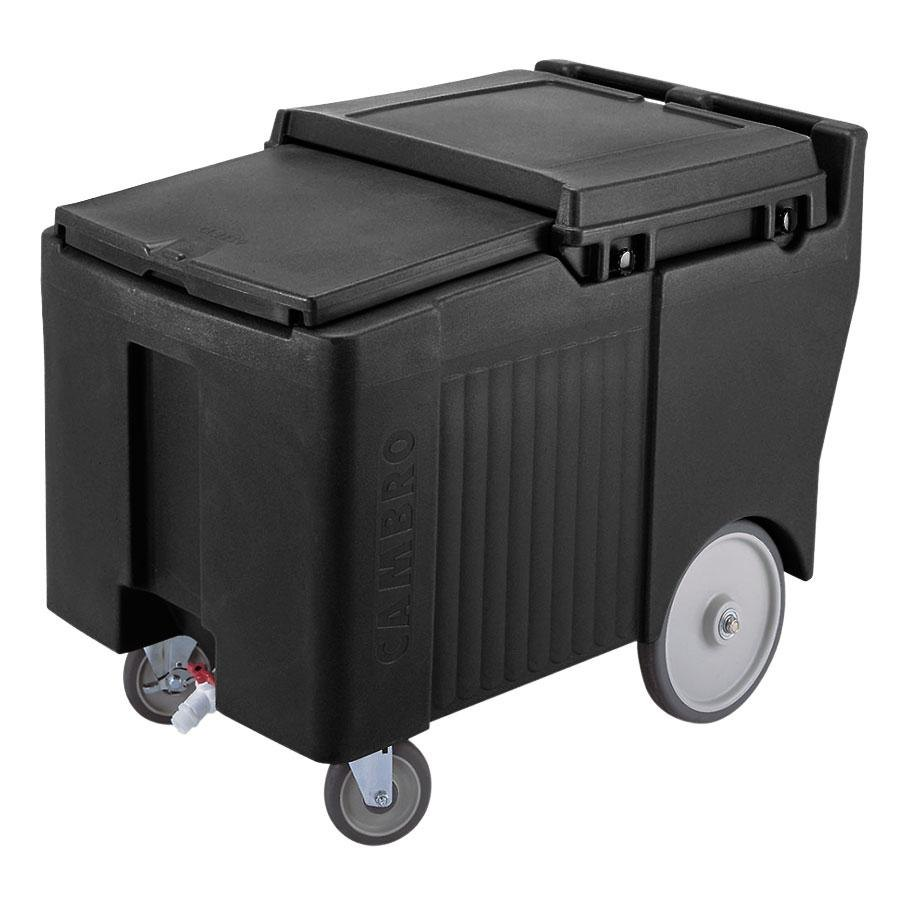 Cambro ICS125LB110 Black Sliding Lid Portable Ice Bin - 125 lb. Capacity