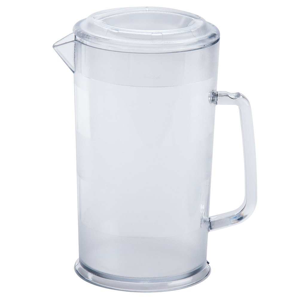 Cambro PC64CW 64 oz. Covered Plastic Pitcher