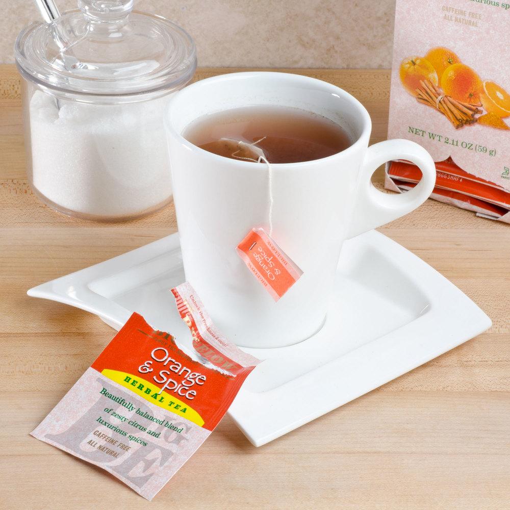Orange and spice tea