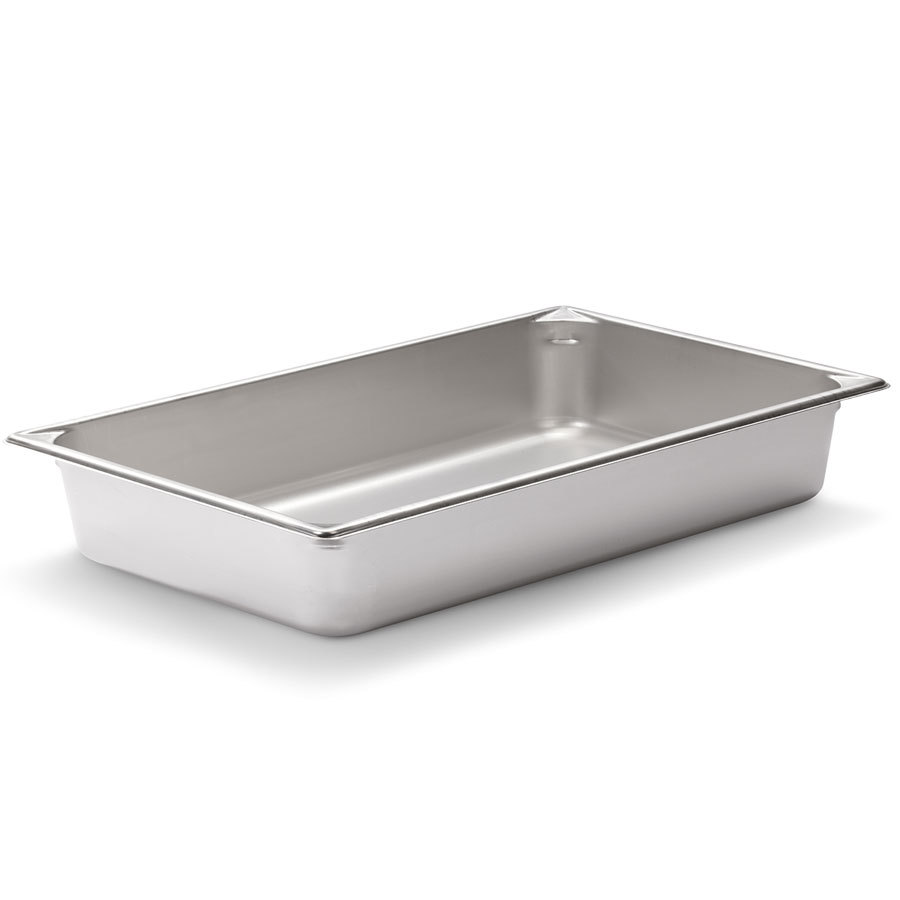 Vollrath Super Pan V 30022 Full Size Stainless Steel Anti-Jam Steam Table / Hotel Pan - 2 1/2 inch Deep